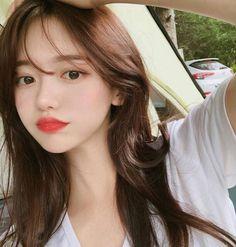 Pretty Korean Girls, Cute Korean Girl, Beautiful Asian Girls, Pretty Girl Face, Korean Girl Fashion, Korean Eye Makeup, Ulzzang Korean Girl, Uzzlang Girl, Face Hair