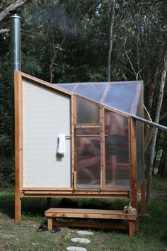 studio rain revives bathing culture with an off-grid sauna installation in melbourne Sauna House, Sauna Room, Saunas, Building A Sauna, Building Plans, Prefabricated Structures, Sauna Shower, Sauna Design, Design Design