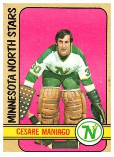 1972 Topps Cesare Maniago Minnesota North Stars