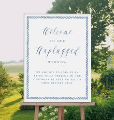 The Prep - Nautical Unplugged ceremony wedding welcome sign, no cameras wedding sign, navy wedding, preppy wedding, unplugged signage by MDBWeddings on Etsy https://www.etsy.com/listing/237976017/the-prep-nautical-unplugged-ceremony