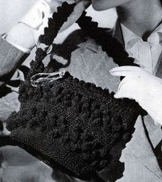 Cordet Bag No. 4819 crochet pattern from Handbags, originally published by Jack Frost Yarn Company, Volume No. 48, from 1945.