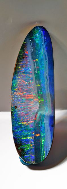 Another angle of this 801 carat Boulder Opal shows the blues that come out under different light....Bill Kasso