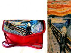 bo22 Borsa in pelle dipinta a mano - L'urlo - Munch 2