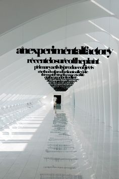 Pinterest has led me down a road of amazing installation larger than life art via typography.