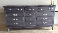 Chalk painted french Provincial