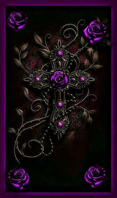Cross Wallpaper, Gothic Wallpaper, Skull Wallpaper, Love Wallpaper, Galaxy Wallpaper, Wallpaper Backgrounds, Purple Flowers Wallpaper, Beautiful Flowers Wallpapers, Butterfly Wallpaper
