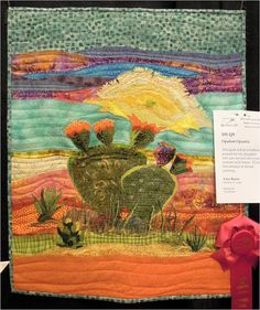 ❤ =^..^= ❤   Quilt Inspiration: Trends and Traditions: Arizona Quilters' Guild Show 2013 | Opulent Opuntia by Vera Burns