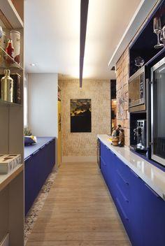 Cozinha azul e branca 2.