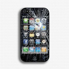 Fake Broken Glass iPhone Gag iPhone 4 Case by iCaseSeraSera, via Etsy.