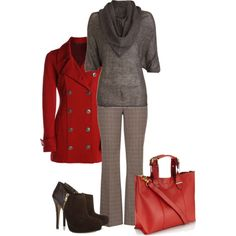 """""""Red & Chocolate"""" by mandykich on Polyvore"""