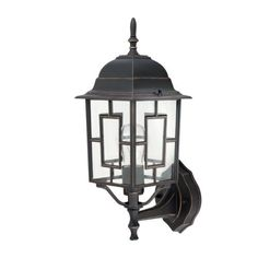 Globe Electric 40421 Casilla 16-Inch Upward Outdoor Wall Lantern Light Fixture, Oil Rubbed Bronze by Globe Electric. $21.68. From the Manufacturer                Globe, Casilla 16-Inch upward outdoor wall mount: This detailed and rich Art Deco coach light in antique oil rubbed bronze finish will bring refinement to your doorway. Clear glass to brightly illuminate your entrance. Quality construction and durable finish will last, for years of beauty.                           ...