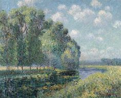 By the Eure River in Spring - Gustave Loiseau, 1902