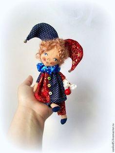 Коллекционные куклы ручной работы. Ярмарка Мастеров - ручная работа. Купить Чудо на ладошке.Арлекин.. Handmade. Арлекин, арлекин из буратино