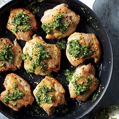 Chicken Thighs with Cilantro Sauce Recipe