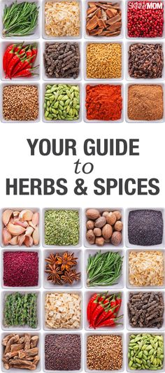 The Perfect Guide to Commonly Used Herbs and Spices - Definitions for each, and what dishes they are used in.