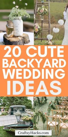 Turn your backyard wedding into something more special with these wedding decoration hacks. Enjoy these wedding hacks and enjoy DIY'ing these wedding decor ideas. Home Wedding, Budget Wedding, Wedding Tips, Garden Wedding, Wedding Hacks, Dream Wedding, Backyard Wedding Decorations, Small Backyard Weddings, Cheap Backyard Wedding