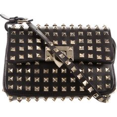 69cd72e6ad7e Pre-owned Valentino Leather Rockstud Crossbody Bag ( 1