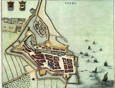 Blaeu Atlas: Veere ca 1662, Netherlands.