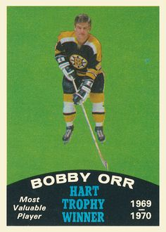 In Fair - Good Condition Hockey Cards, Baseball Cards, Bobby Orr, Boston Bruins Hockey, Hockey Teams, Hockey Stuff, Maximum Effort, Boston Sports