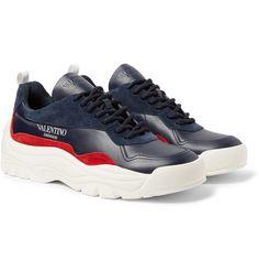 huge discount 31361 2b0a9 Valentino - Valentino Garavani Bansi Leather and Suede Sneakers. Sneakers  NikeSuede SneakersAir ...