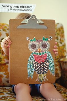 diy {owl coloring pa