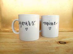 personalized mugs make an excellent surprise for a newly married couple or anyone on your gift list with a deep love for caffeine!!  this