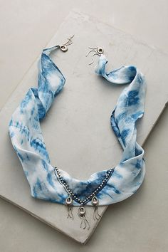 Explore Anthropologie's unique collection of Jewelry, featuring the season's newest arrivals. Bandana Choker, Bandana Outfit, Silk Bandana, Bandana Scarf, Fashion Accessories, Fashion Jewelry, Women Jewelry, Edm Outfits, How To Wear Scarves