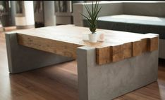 Concrete Table with Wood Combination to Blow Your Mind | Design Pinn