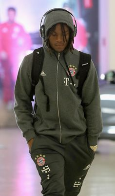 Renato Sanches of Bayern Muenchen arrives at the players' tunnel ahead of the Bundesliga match between Bayern Muenchen and TSG 1899 Hoffenheim at...