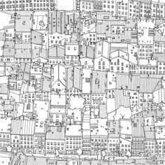 This Coloring Book Takes You To Fantastic Cities Both Real