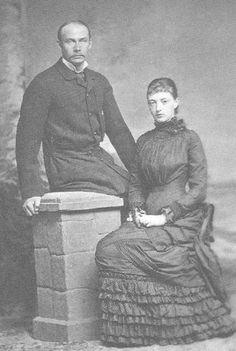 Grand Duchess Anastasia  with her husband Friedrich Franz III of Mecklenburg-Schwerin.