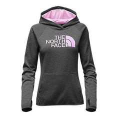 The North Face Women's Fave Half Dome Pullover Hoodie Sweatshirt TNF Dark Grey Heather/Lupine