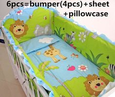 (39.80$)  Watch here - http://ai055.worlditems.win/all/product.php?id=32521828038 - Promotion! 6PCS Cartoon Baby Bedding Set Baby cradle crib cot bedding Baby Sheet Bumper (bumpers+sheet+pillow cover)