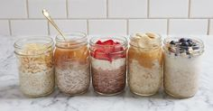 5 Overnight Oats Recipes That'll Make Your Mornings Suck Less via @PureWow