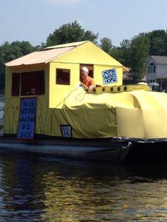 Roscommon, MI - Lake James 4th of July boat parade 2013