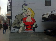 DFace Comic Mural comic and street art combined could it get any better