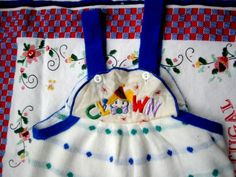 Knit Clown Overalls 18 Months by lishyloo on Etsy, $4.00