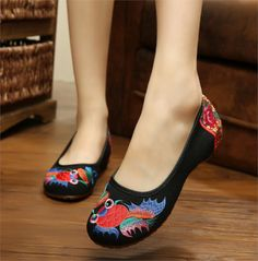 Old Peking Women's Shoes Flat Heel