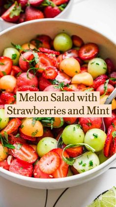 Fruit Recipes, Appetizer Recipes, Whole Food Recipes, Cooking Recipes, Strawberry Recipes Dinner, Salad Recipes With Bacon, Cherry Tomato Recipes, Bacon Recipes, Clean Eating Recipes