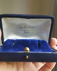 Antique Green Velvet Jewelry Box Jewelry Display Box Watch Display