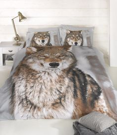 Animal Print - Gray Wolf Photograph Single Duvet / Quilt Cover Bedding Bed Set for sale online King Size Duvet Covers, Double Duvet Covers, Single Duvet Cover, Comforter Cover, Duvet Bedding, Duvet Sets, Duvet Cover Sets, Bedding Decor, Unique Bedding