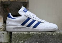 adidas Busenitz Pro White Royal Perforated Leather BY3971   SneakerNews.com