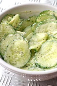 Frisse komkommersalade - OhMyFoodness