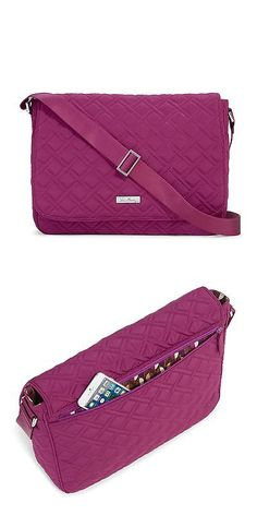 Briefcases and Laptop Bags 169293  Vera Bradley Laptop Messenger Bag In  Plum -  BUY IT NOW ONLY   49.99 on eBay! 8da3f4a402