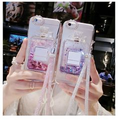Rosefy Case For iPhone 6 Plus Luxury Rhinestones Back Cover Bling Quicksand Phone Cases For iPhone 7 Plus + Crystal Lanyard Iphone 6 S Plus, Cases Iphone 6, Girly Phone Cases, Coque Iphone 5c, Accessoires Iphone, Silicone Phone Case, Cute Cases, Iphone Accessories, 6s Plus