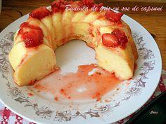 Arome si culori : Budinca de gris cu sos de capsuni Breakfast, Amazing, Sweet, Beautiful, Food, Pie, Kuchen, Recipes, Essen
