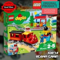 LEGO 10874 Steam Train DUPLO Mainan Edukasi Kereta Api Anak Original #thekingbricks #theking #thekingid #kingbricks #gvonline #uhappyihappy #tokolegoterpercaya #tokomainanoriginal #lego10874 Lego Duplo Sets, Lego City, Lego Star Wars, Avengers, Train, The Avengers, Strollers