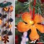 От изсушени портокалови кори:)/  Christmas decoration from orange peel