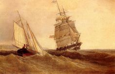 Passing Ships, Oil On Canvas by William Bradford (1590-1657, United Kingdom)
