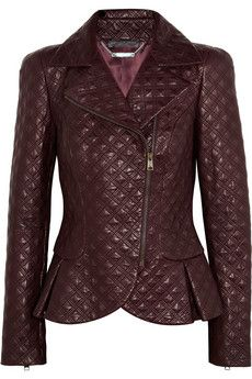 #Alexander McQueen F/2012 Quilted Leather Jacket